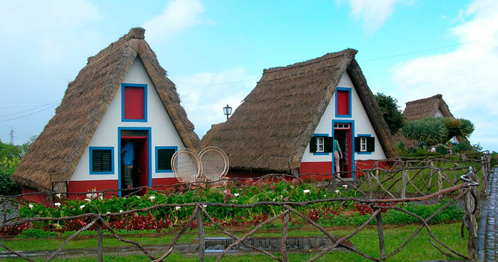 Traditional houses of Madeira Island